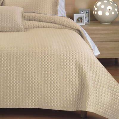 Westchester Quilt Size: King, Color: Cream Circle