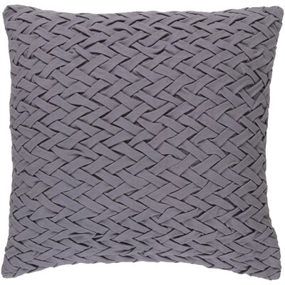 Eastlawn 100% Cotton Throw Pillow Size: 22 H x 22 W x 4 D, Color: Light Gray