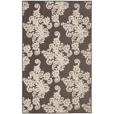 Donnellan Brown/Beige Indoor/Outdoor Area Rug Rug Size: 67 x 96