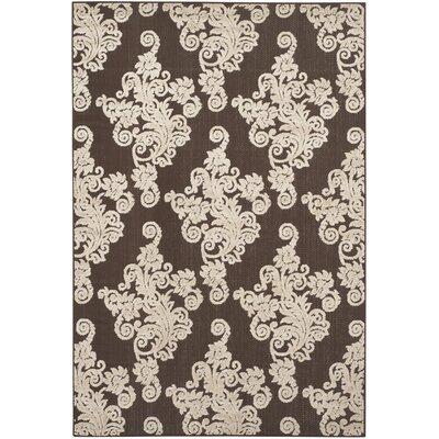 Donnellan Brown/Beige Indoor/Outdoor Area Rug Rug Size: Rectangle 53 x 77