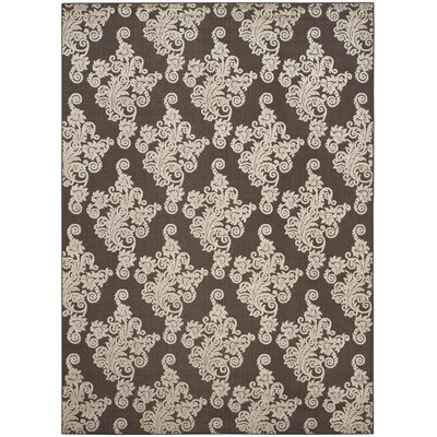 Donnellan Brown/Beige Indoor/Outdoor Area Rug Rug Size: Rectangle 8 x 112
