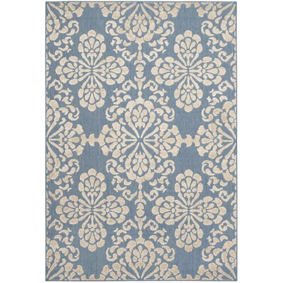 Robinwood Light Blue/Beige Indoor/Outdoor Area Rug Rug Size: Rectangle 9 x 12