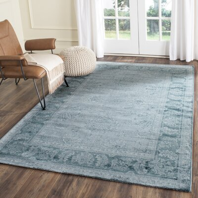 Oakfield Light Blue/Dark Blue Area Rug Rug Size: 4 x 57