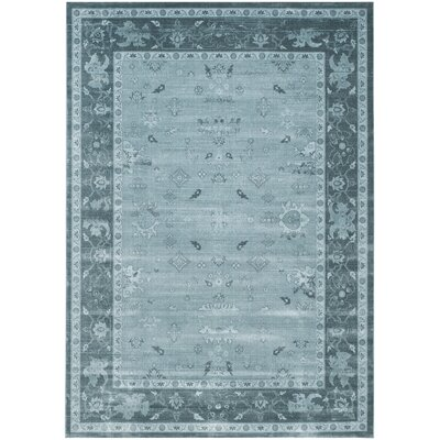 Piercefield Light Blue/Dark Blue Area Rug Rug Size: 8 x 11
