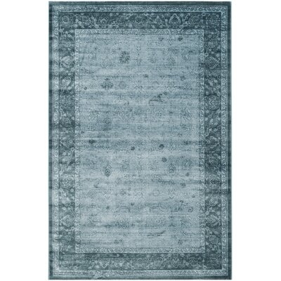 Colden Light Blue/Dark Blue Area Rug Rug Size: 51 x 76