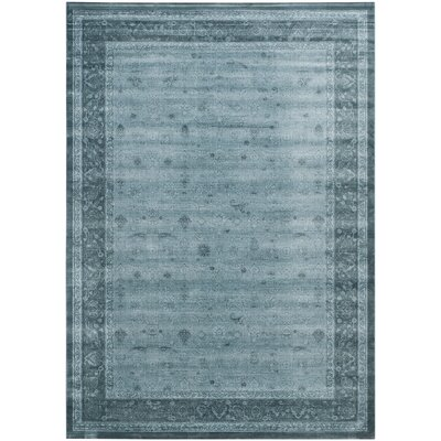 Colden Light Blue/Dark Blue Area Rug Rug Size: 8 x 11