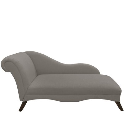 Plumwood Chaise Lounge Upholstery: Grey