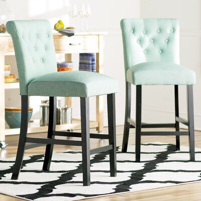 Mapletown 26 Bar Stool Upholstery: Sea Green