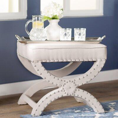 Weybossett Ottoman Upholstery: Cream