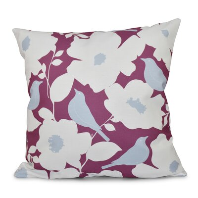 Franca Modfloral Floral Print Throw Pillow Size: 18 H x 18 W, Color: Purple