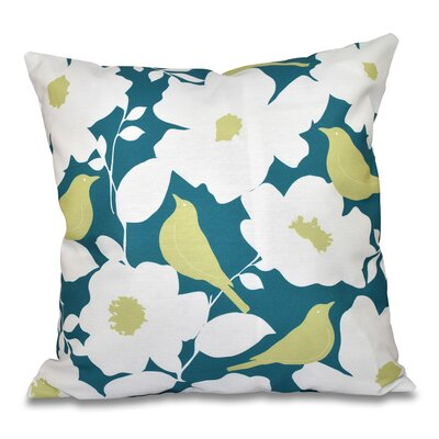Franca Modfloral Floral Print Throw Pillow Size: 26 H x 26 W, Color: Teal