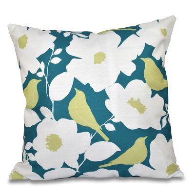 Franca Modfloral Outdoor Throw Pillow Size: 18 H x 18 W, Color: Teal