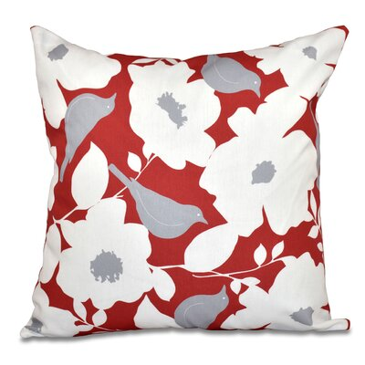 Franca Modfloral Outdoor Throw Pillow Size: 18 H x 18 W, Color: Coral