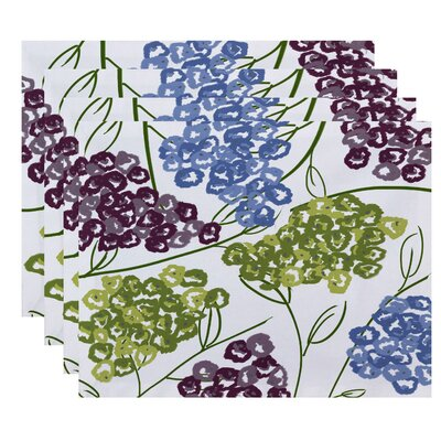 Elma Hydrangeas Floral Print Placemat Color: Purple