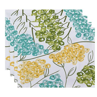 Elma Hydrangeas Floral Print Placemat Color: Yellow
