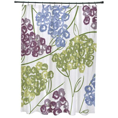 Richmondville Hydrangeas Floral Print Shower Curtain Color: Purple