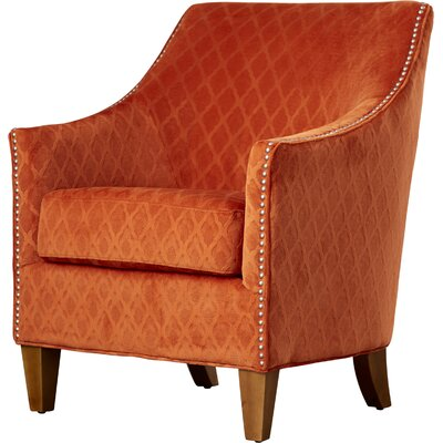 Lacefield Arm Chair Fabric: Wembley Orangaid