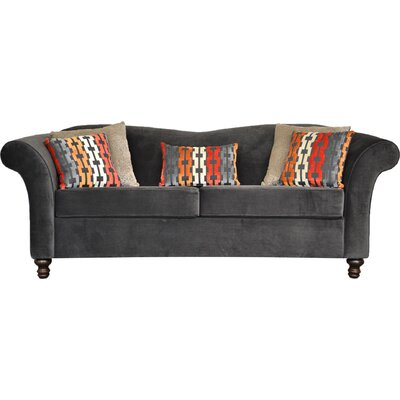 Conners Sofa Upholstery: Triumph Granite / Dots Flax / Bardot Atomic