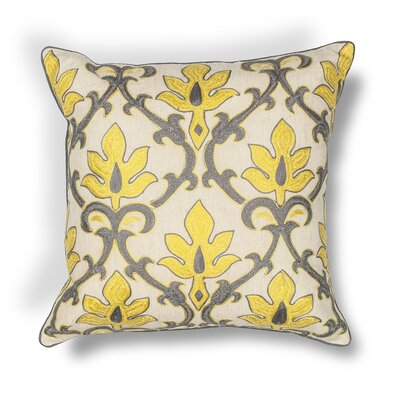 Waddington Indoor/Outdoor Throw Pillow Color: Yellow/Gray