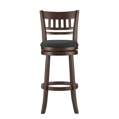Heartwood 29 Swivel Bar Stool Upholstery: Dark Grey