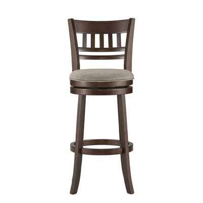 Heartwood 29 inch Swivel Bar Stool Upholstery: Grey