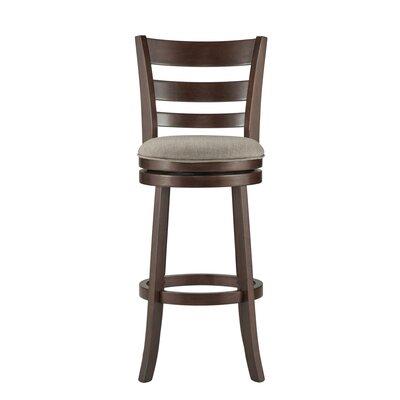 Heartwood 29 Swivel Bar Stool Upholstery: Grey