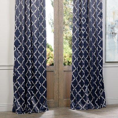 Ana Quatrefoil Blackout Single Curtain Panel