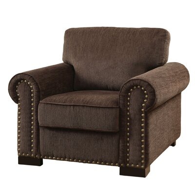 Rosewood Chenille Arm Chair