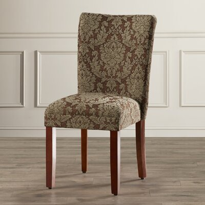 Hazelwood Upholstered Damask Parsons Chair