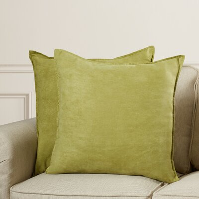 Palermo Throw Pillow Color: Apple Green, Size: 22 H x 22 W