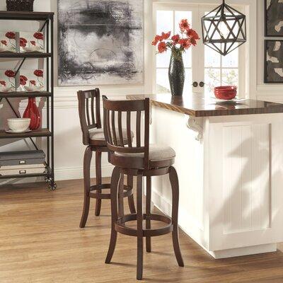 Morgan 29 Swivel Bar Stool Upholstery: Grey