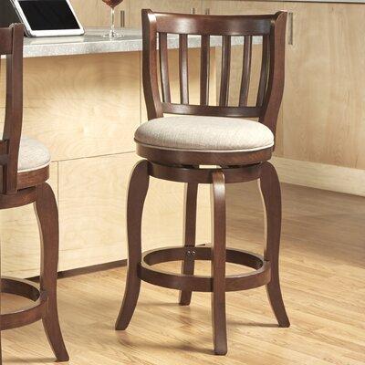 Morgan 24 Swivel Bar Stool Upholstery: Grey