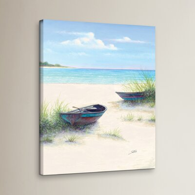 South Coral Beach Painting Print on Wrapped Canvas Size: 18