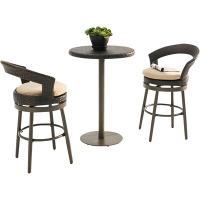 Harborcreek 3 Piece Counter Height Bistro Set with Cushions
