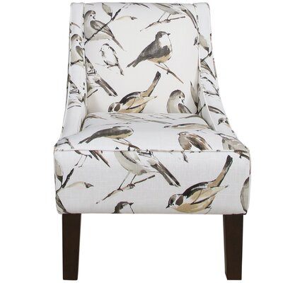 Goldhorn Armchair Upholstery: Birdwatcher Charcoal, Nailhead Detail: No Trim
