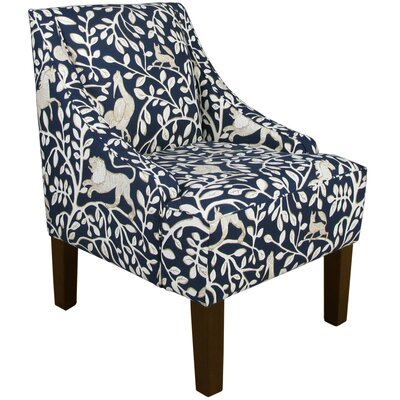 Goldhorn Armchair Upholstery: Pantheon Admiral, Nailhead Detail: No Trim