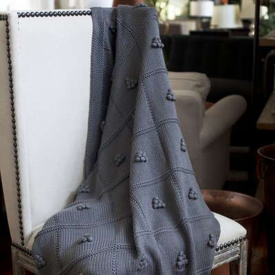 Messinia Throw Blanket Color: Gray