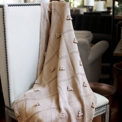 Messinia Throw Blanket Color: Camel