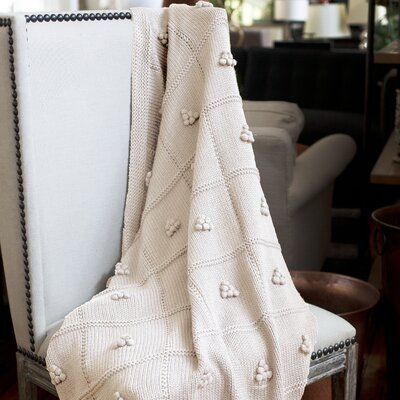 Messinia Throw Blanket Color: Cream