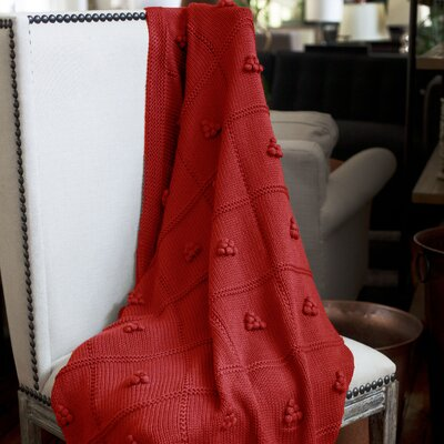 Messinia Throw Blanket Color: Red