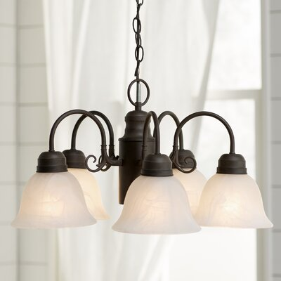 Barre Arc 5-Light Shaded Chandelier Finish: Dark Brown