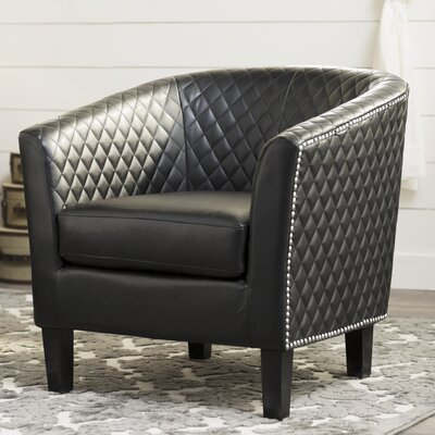 Upholstered Barrel Chair Upholstery: Black