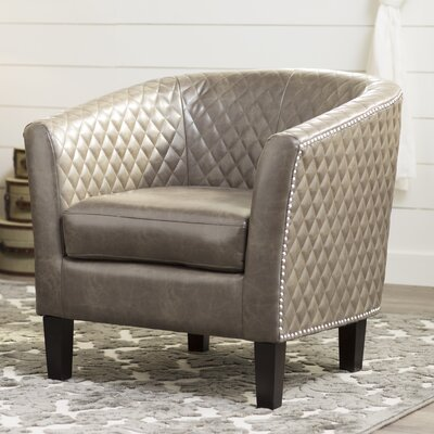 Upholstered Barrel Chair Upholstery: Brown