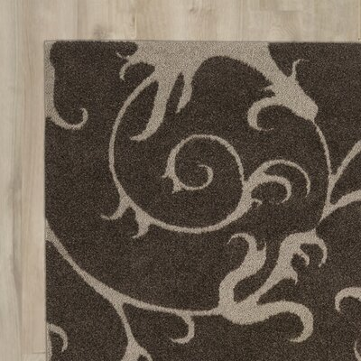 Cincinnatus Floral Brown Area Rug Rug Size: Runner 110 x 72
