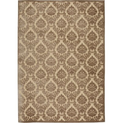 Weissport Beige/Mocha Area Rug Rug Size: Rectangle 53 x 73