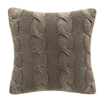 Knitted Square Throw Pillow