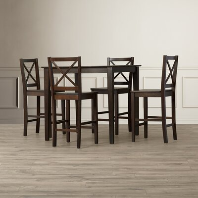 Lamantia 5 Piece Counter Height Dining Set