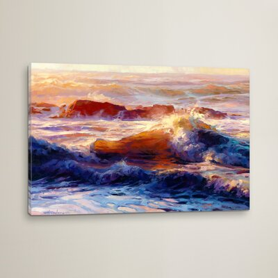 'Opalescent Sea' by Steve Henderson Graphic Art on Wrapped Canvas