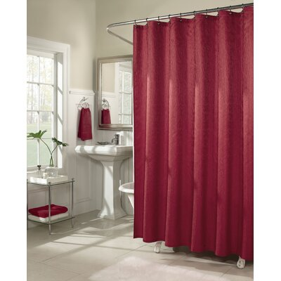 Malone Shower Curtain Color: Red