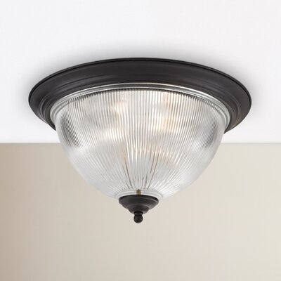 Grosse 3-Light White Flush Mount Finish: Oil Rubbed Bronze